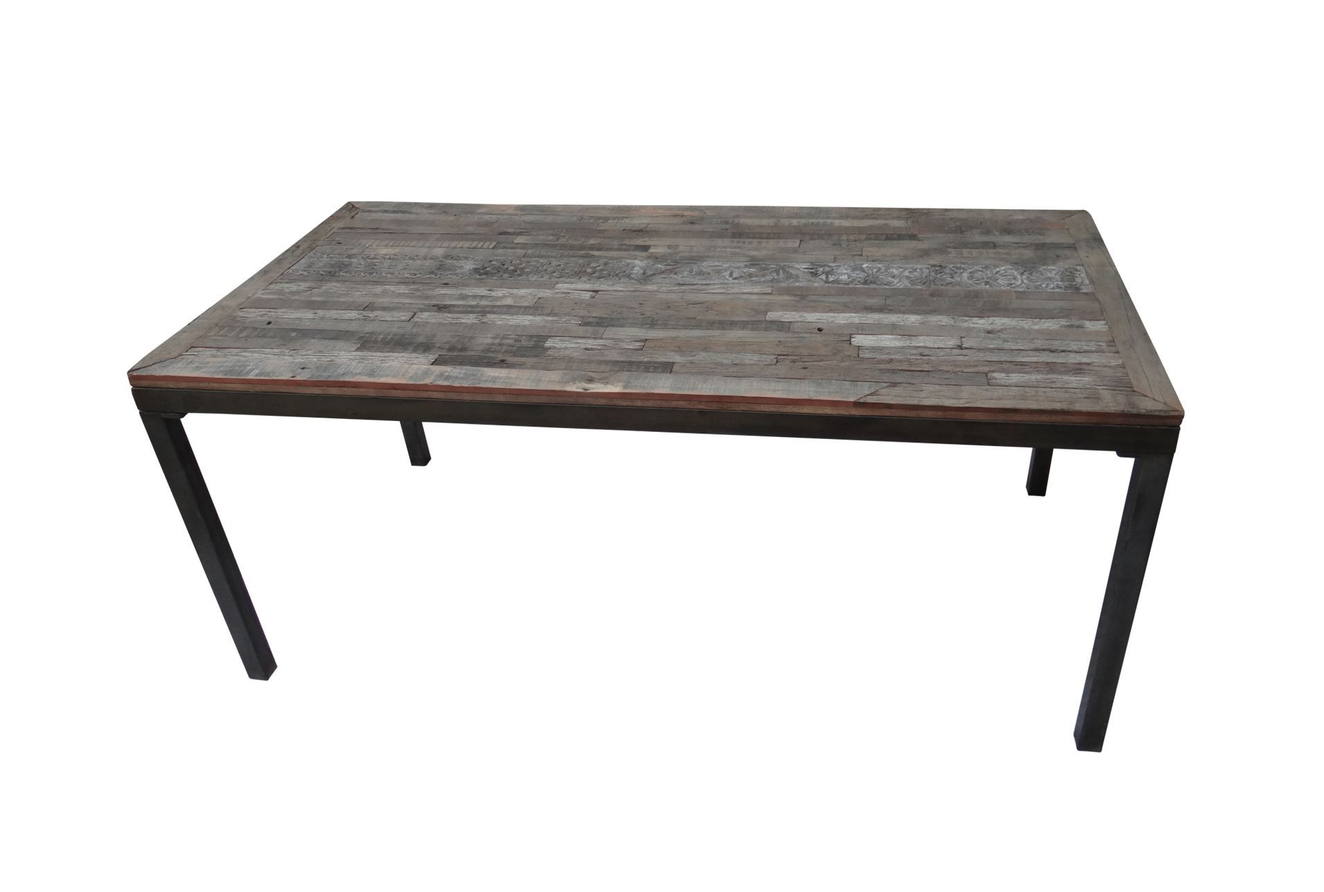 otb vintage finish print block dining table living spaces
