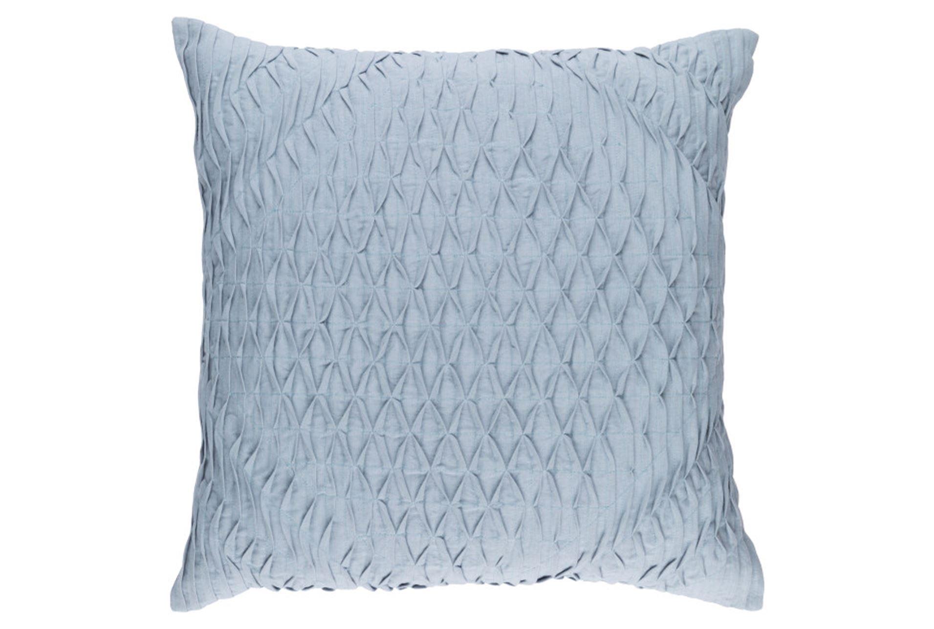 Accent Pillow-Annette Solid Blue 18X18 - Living Spaces