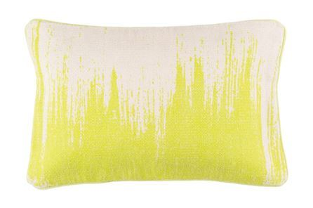 Accent Pillow-Nas Abstract Light Grey/Lime 14X22
