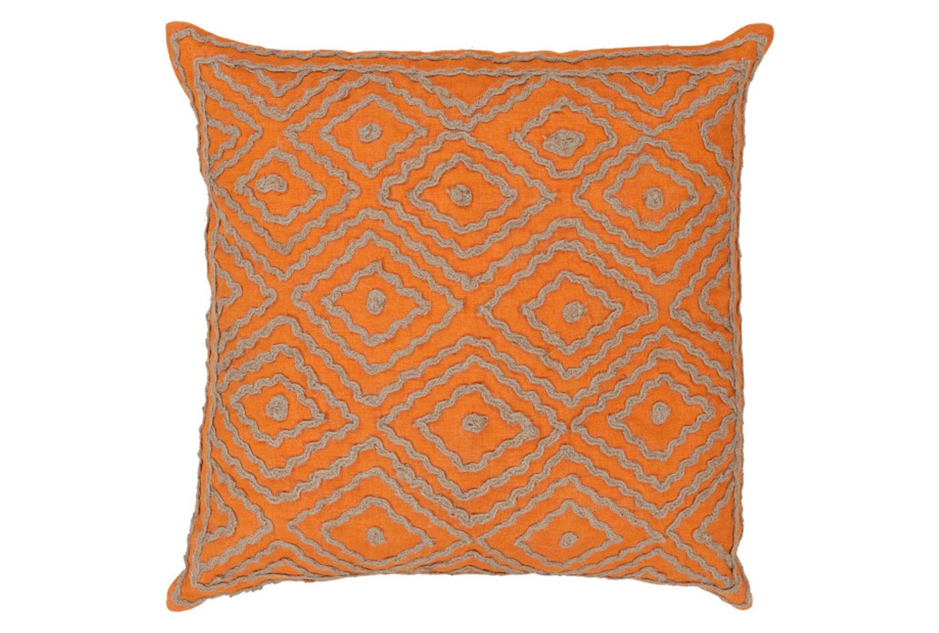 Decorative Pillows Living Spaces : Accent Pillow-Patin Orange 18X18 - Living Spaces