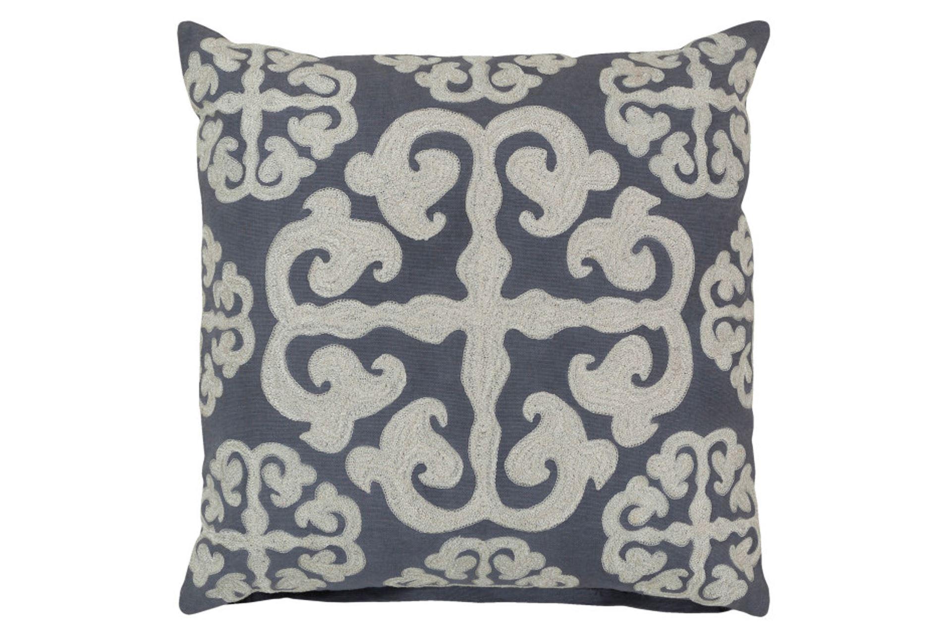 Decorative Pillows Living Spaces : Accent Pillow-Lorena Grey 22X22 - Living Spaces