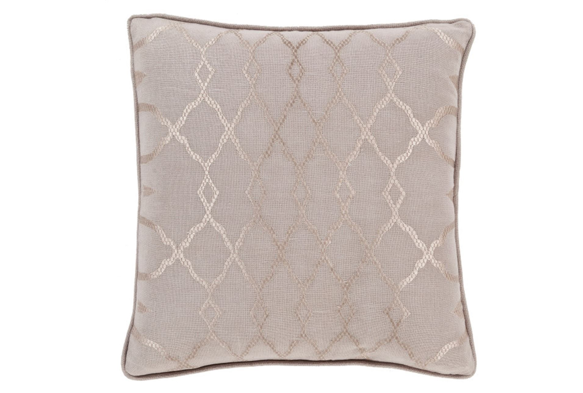 Decorative Pillows Living Spaces : Accent Pillow-Karissa Taupe 22X22 - Living Spaces
