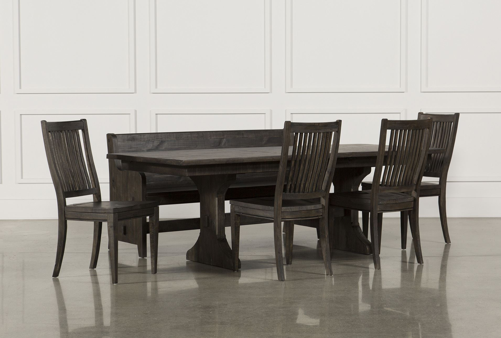 Valencia 72 inch 6 piece dining set living spaces for 6 piece living room set