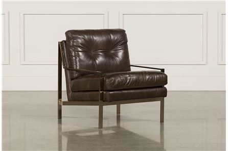 Bryce Leather Accent Chair - Main