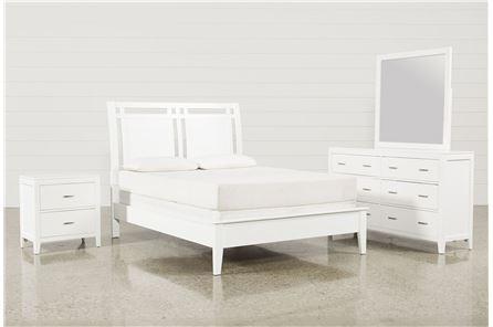 Harkin White California King 4 Piece Bedroom Set - Main