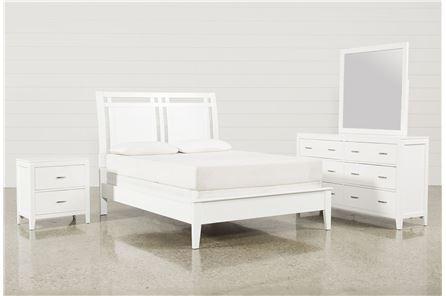 Harkin White Eastern King 4 Piece Bedroom Set - Main