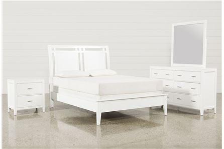 Harkin White Queen 4 Piece Bedroom Set - Main