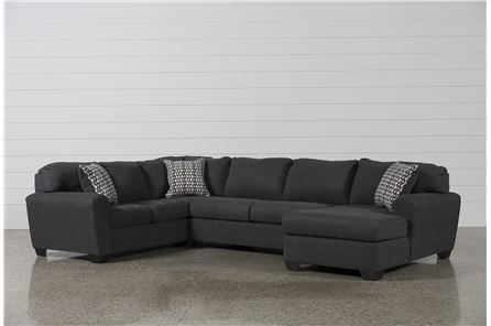Sorenton Slate 3 Piece Sectional W/Raf Chaise - Main