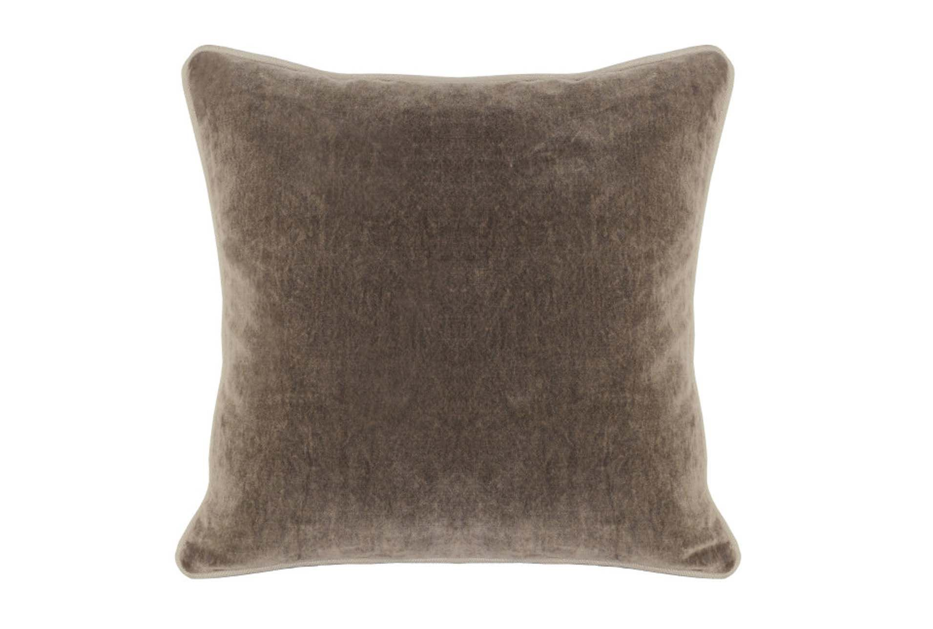 Decorative Pillows Living Spaces : Accent Pillow-Mushroom Washed Velvet 18X18 - Living Spaces