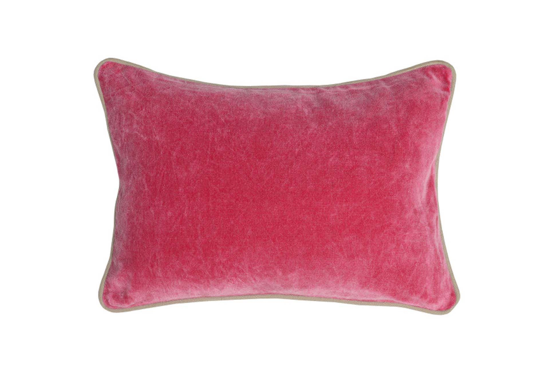 Fuschia Velvet Throw Pillows : Accent Pillow-Fuschia Washed Velvet 14X20 - Living Spaces