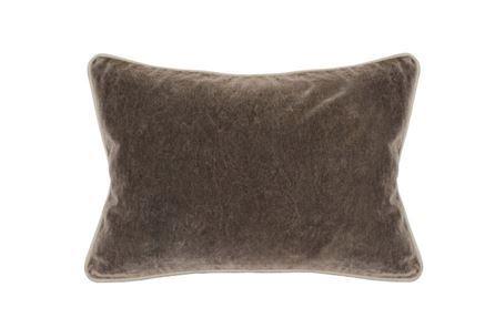 Accent Pillow-Mushroom Washed Velvet 14X20