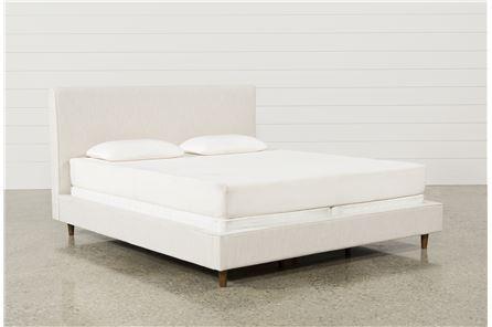 Dean Sand Eastern King Upholstered Panel Bed - Main