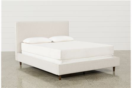 Dean Sand Queen Upholstered Panel Bed - Main