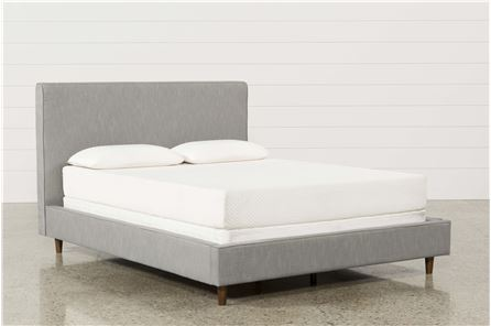 Dean Charcoal Eastern King Upholstered Panel Bed - Main