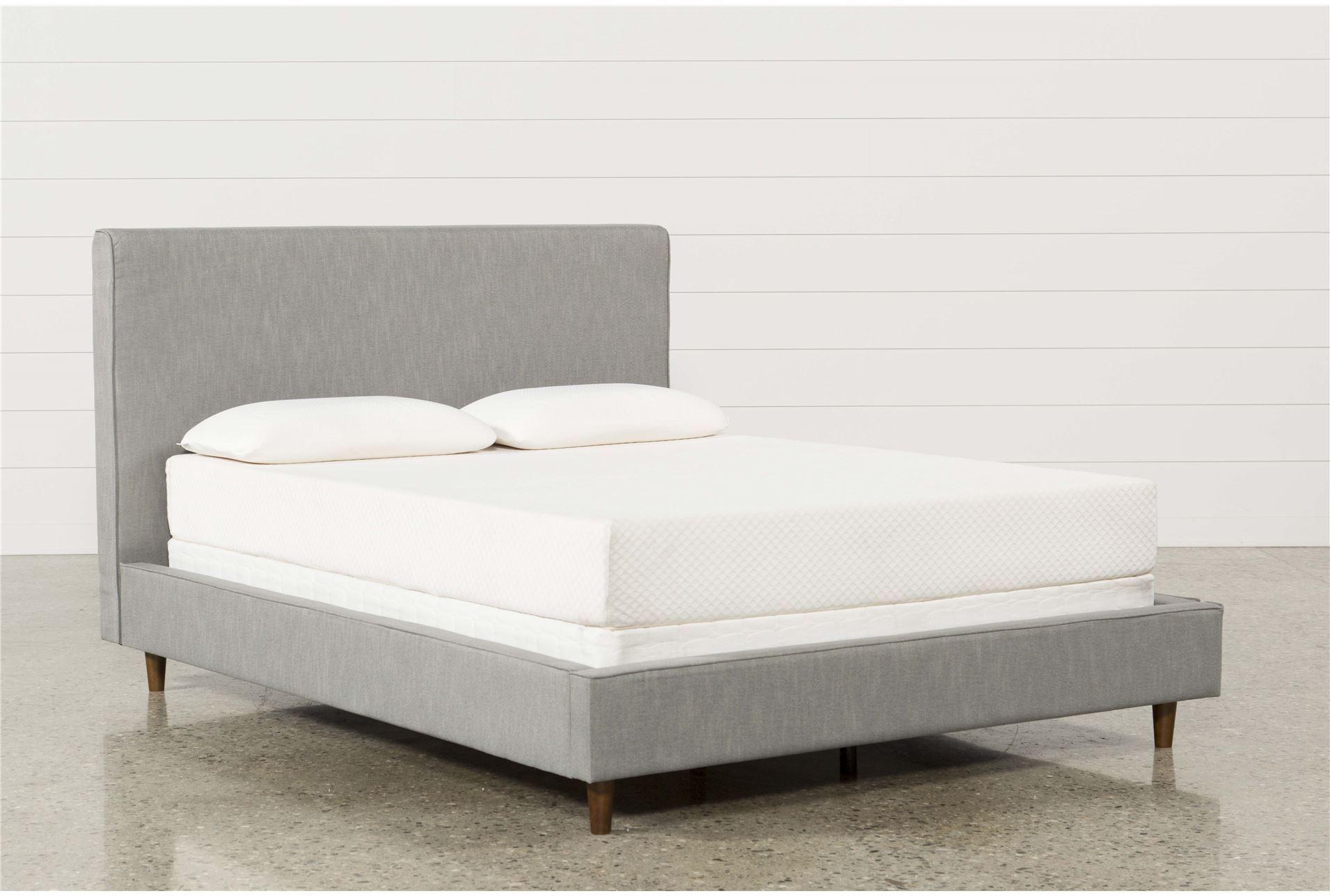 dean charcoal eastern king upholstered panel bed living spaces. Black Bedroom Furniture Sets. Home Design Ideas