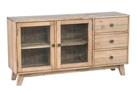 Otb Natural 3-Drawer/2-Door Glass Buffet - Main