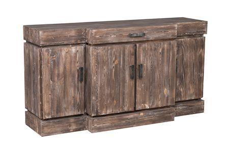 Otb Mocha Wood & Natural 1-Drawer/4Door Sideboard - Main