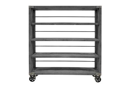 Otb Stone Grey & Iron Bookshelf - Main