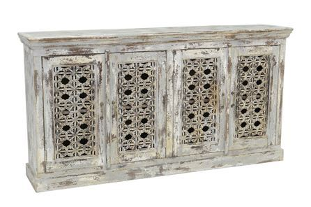 Otb Antique Grey 4-Door Sideboard - Main