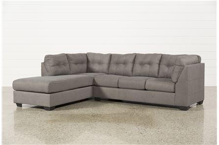 Maier Charcoal 2 Piece Sectional W/Sleeper & Left Facing Chaise - Main