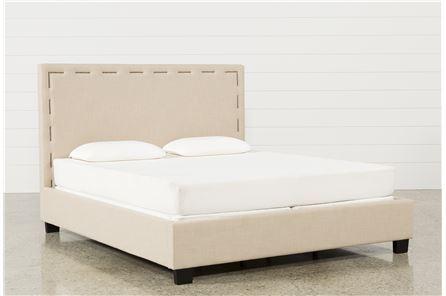 Miles Eastern King Upholstered Platform Bed - Main