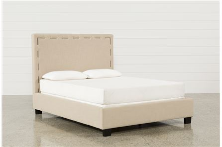Miles Queen Upholstered Platform Bed - Main
