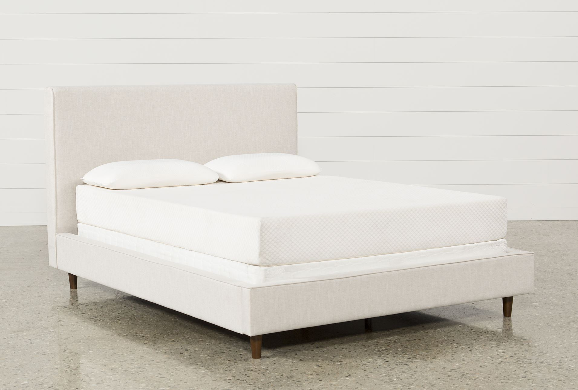 Dean Sand Full Upholstered Panel Bed Living Spaces