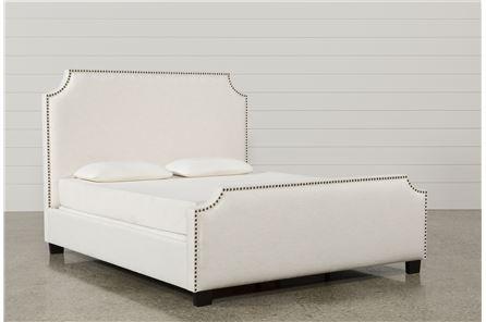 Sophia Eastern King Upholstered Panel Bed - Main