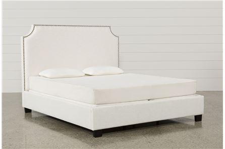 Sophia Eastern King Upholstered Platform Bed - Main