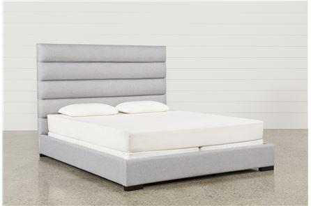 Hudson California King Upholstered Platform Bed - Main