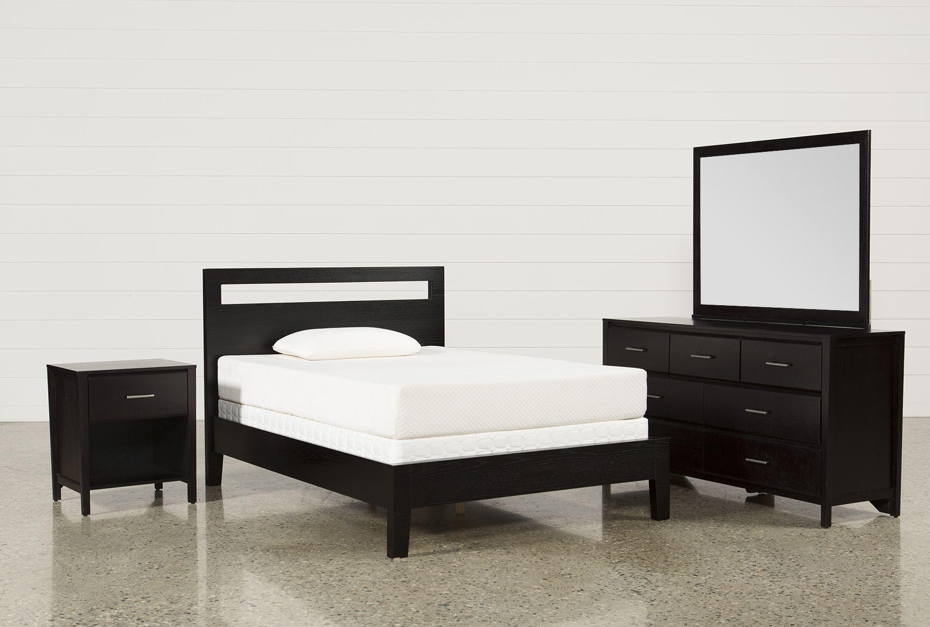 milton full 4 piece bedroom set living spaces
