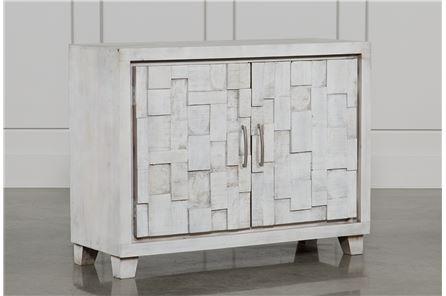 Otb White Wash 2-Door Server - Main