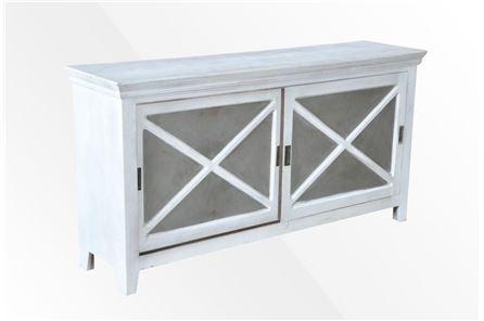 Otb White Wash 2-Door Sliding Sideboard - Main