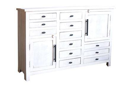 Otb White Wash 12-Drawer/2-Door Cabinet - Main
