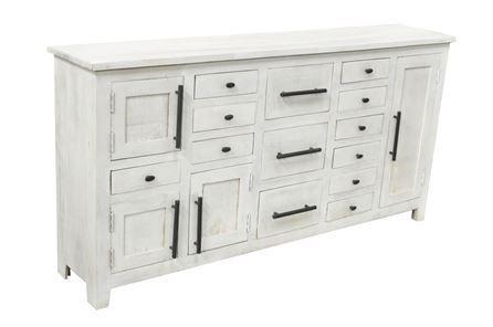 Otb White Wash 13-Drawer/4-Door Large Cabinet - Main