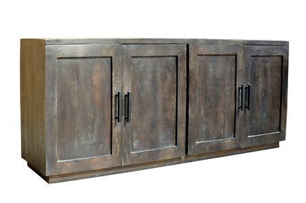 Otb Charcoal Finish 4-Door Jumbo Sideboard - Main