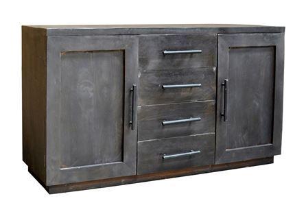 Otb Charcoal Finish 4-Drawer/2-Door Sideboard - Main