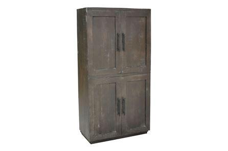 Otb Charcoal Finish 4-Door Tall Cabinet - Main