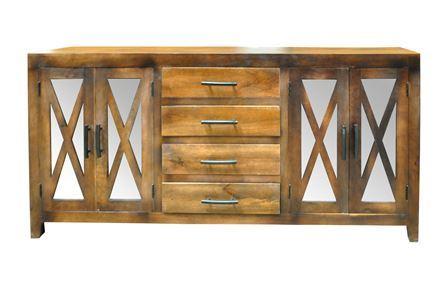 Otb Charcoal Finish 4-Door/3-Drawer Cabinet - Main