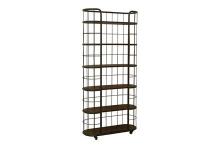Otb Chestnut & Cobre 82 Inch Tall Rolling Bookshelf - Main