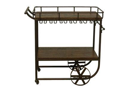 Otb Chestnut & Cobre Bar Cart - Main