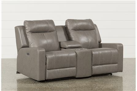 Sequoia Sable Dual Power Reclining Loveseat W/Console & Adj Headrest - Main