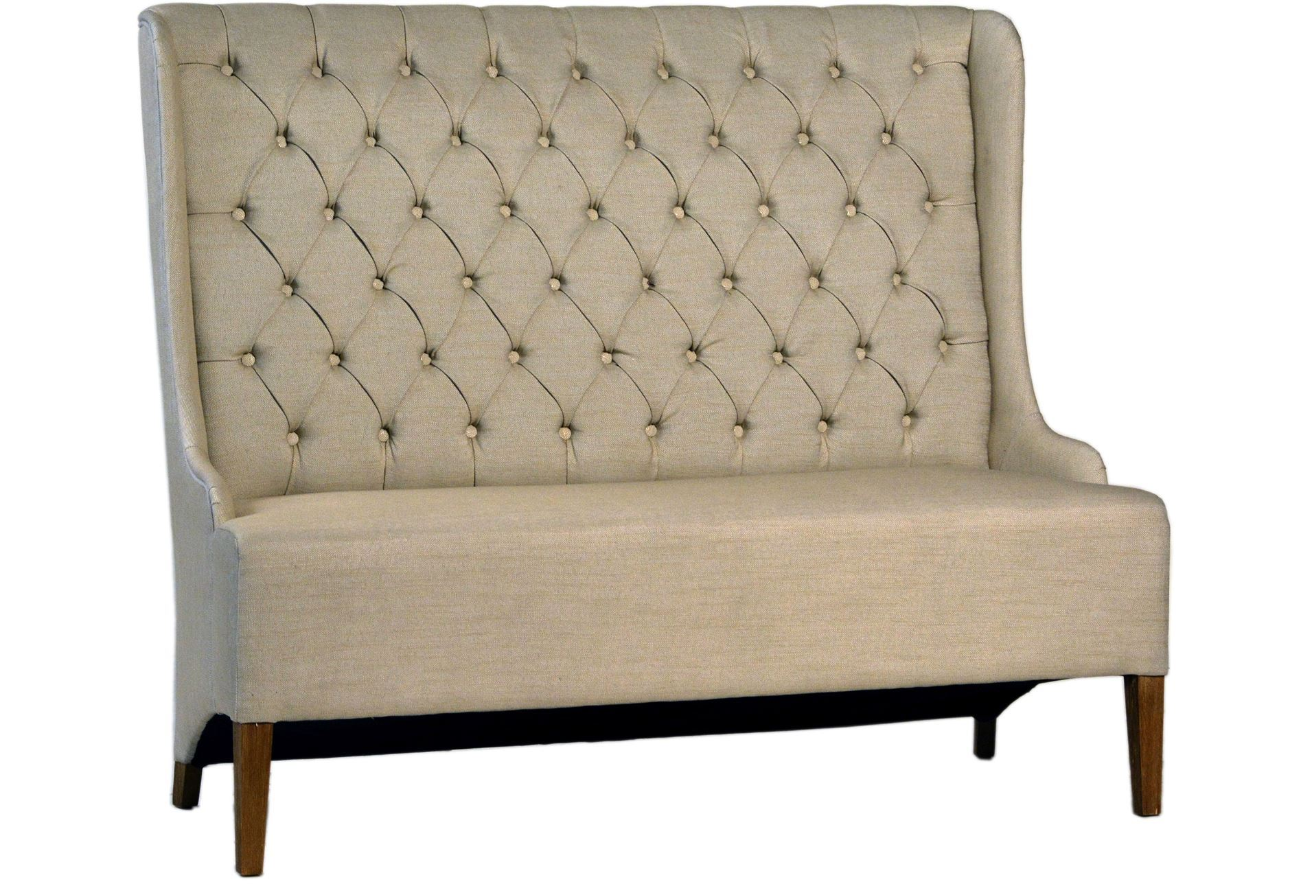Otb Upholstered Tufted Back Dining Bench Living Spaces