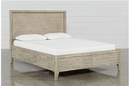 Allen Eastern King Panel Bed W/Storage - Main