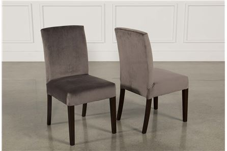 Garten Caviar Chairs W/Espresso Finish Set Of 2 - Main