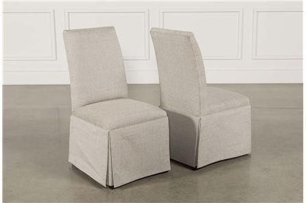Garten Linen Skirted Side Chairs Set Of 2 - Main