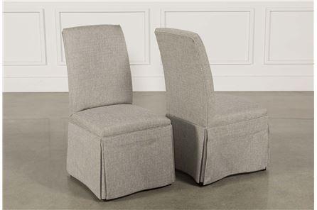 Garten Pashmina Skirted Side Chairs Set Of 2 - Main