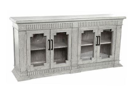 Otb White Wash 4-Door Sideboard - Main