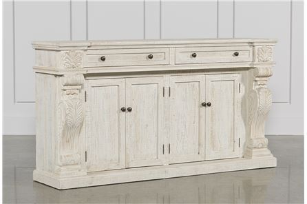 Otb White Wash 2-Drawer/4-Door Sideboard - Main