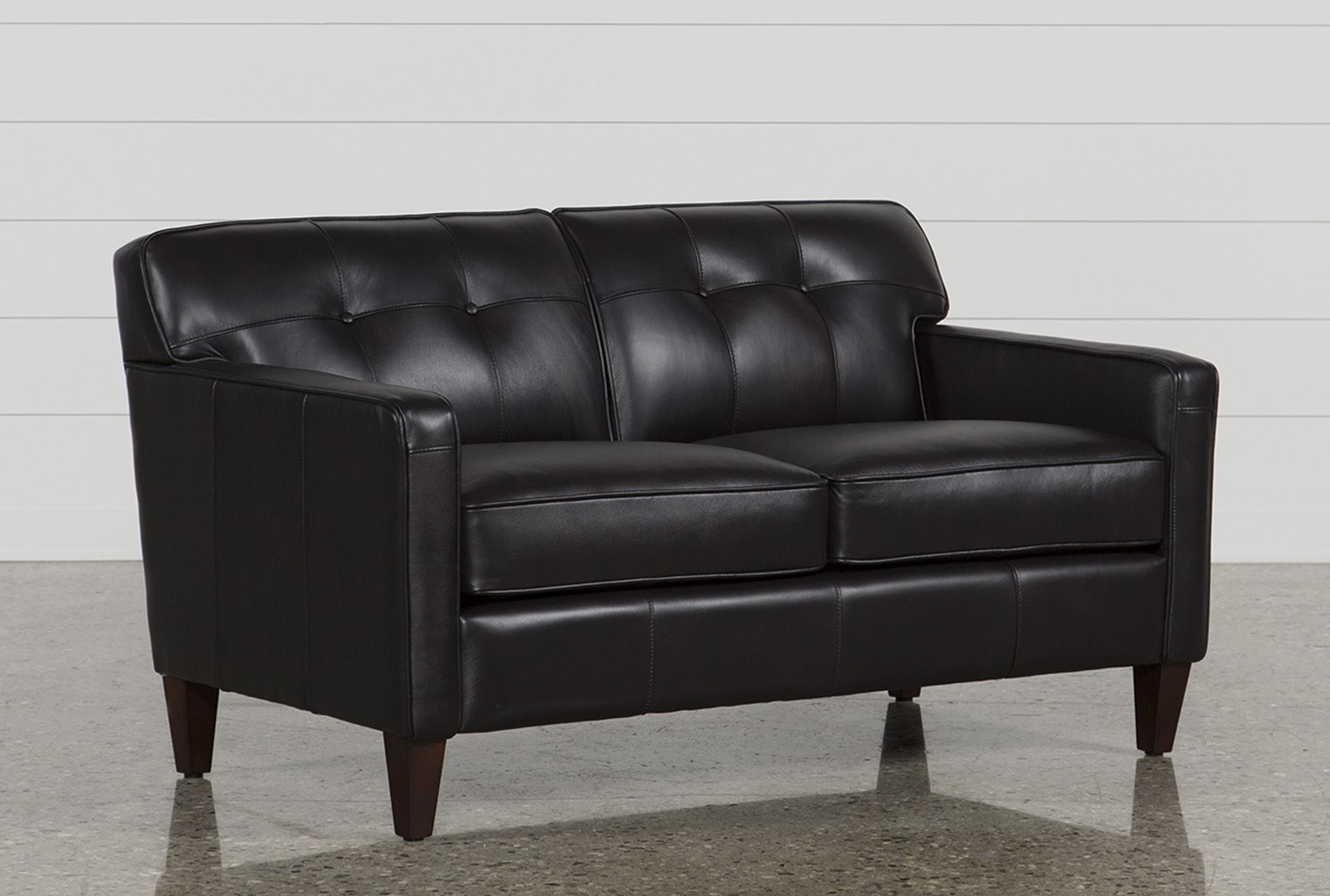 Madison Espresso Loveseat Living Spaces